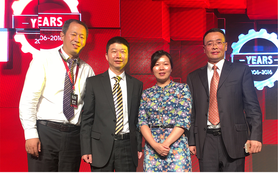 From Left to right: Mr. Lee Sun, Vice President, GKN Sinter Metals China; Mr. Shenglong Xu, VP Purchasing, GJT; Mrs. Wei Xu, VP Sales, Schaeffler China; Mr. Jiangxin Liao, Purchase Director , GJT​