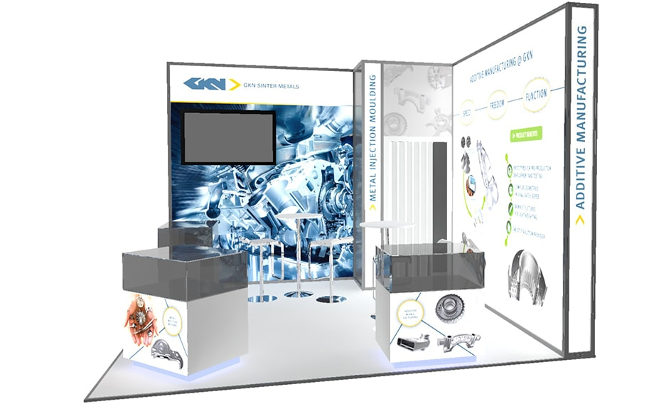 GKN Sinter Metals stand design for the 2016 Engine Expo