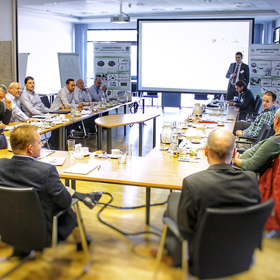 Experts from the automotive industry came together in the GKN Sinter Metals Innovation Center for the first AM Consulting Day