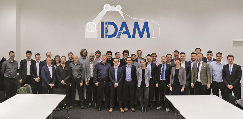 Consortium of the BMBF project IDAM at the kick-off in Munich on March 27, 2019.