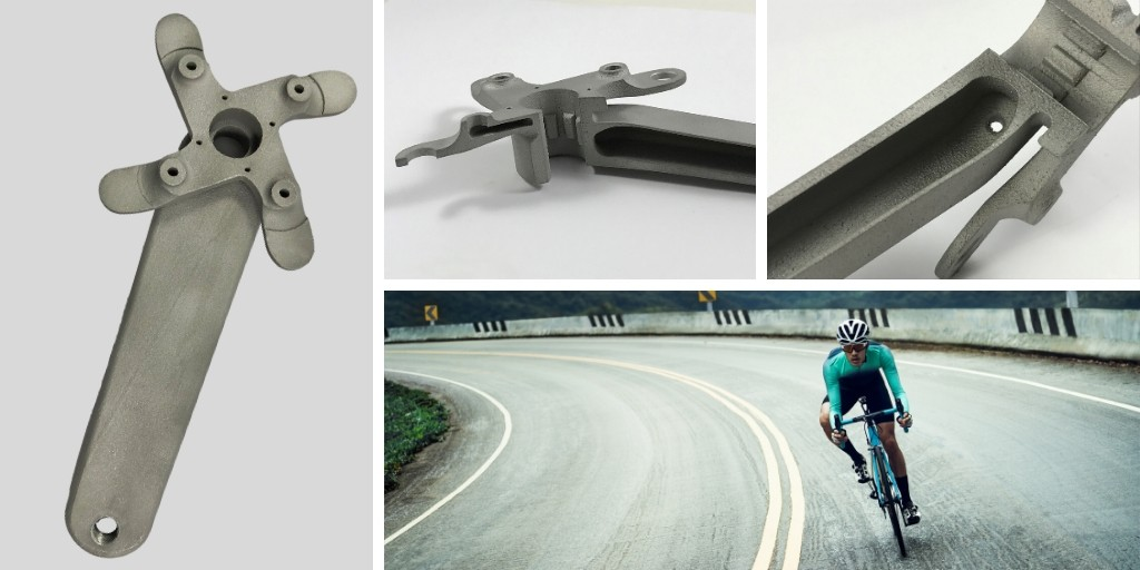 Re-designing the pedal crank for additive manufacturing opened up new design opportunities.