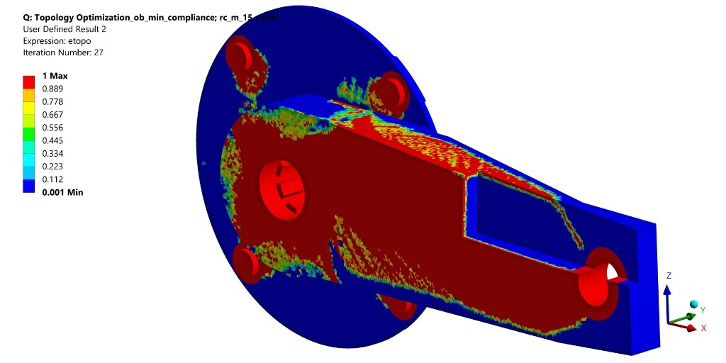 Topology and parameter optimization with ANSYS Mechanical for stress analysis