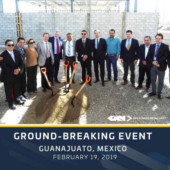 Ground breaking ceremony for the new GKN Sinter Metals site in Guanajuato, Mexico